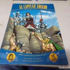 Tebeos: EL CAPITAN TRUENO LA HORDA DE AKBAR Y LAS RUINAS DE TINTAGEL AVENTURAS COMPLETAS. Lote 210939657