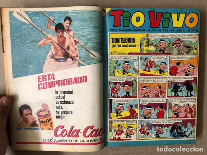 Tebeos: TOMO CON 14 TEBEOS TÍO VIVO (EDITORIAL BRUGUERA 1966/67) ENCUADERNADOS EN TAPA DURA. - Foto 5 - 210941081
