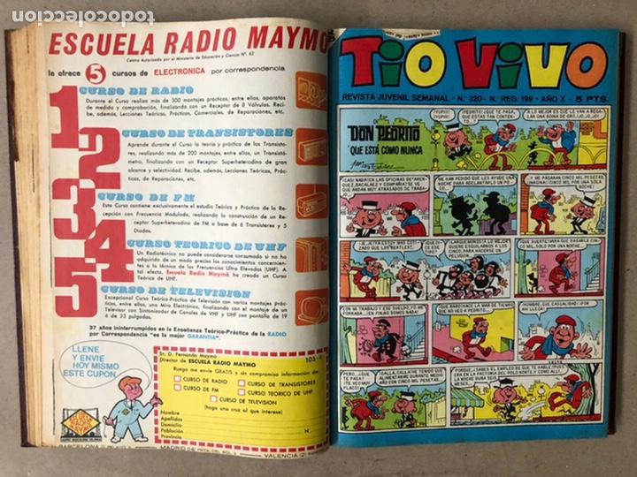 Tebeos: TOMO CON 14 TEBEOS TÍO VIVO (EDITORIAL BRUGUERA 1966/67) ENCUADERNADOS EN TAPA DURA. - Foto 10 - 210941081