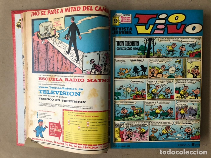 Tebeos: TOMO CON 19 TEBEOS TÍO VIVO (EDITORIAL BRUGUERA 1968/69) ENCUADERNADOS EN TAPA DURA. - Foto 4 - 210943825