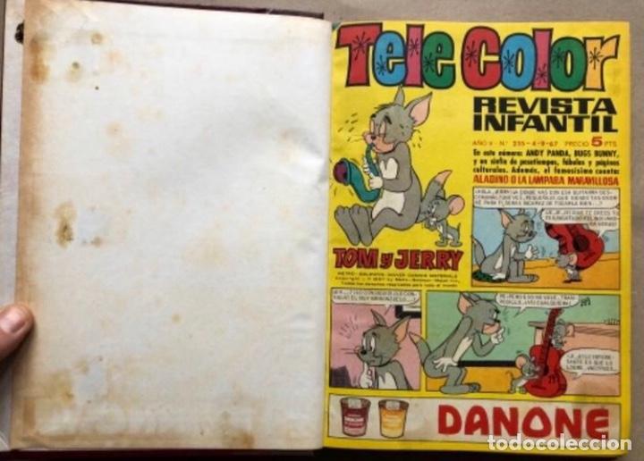 Tebeos: TOMO CON 11 TEBEOS DE LA EDITORIAL BRUGUERA (1967/68). 8 DE TELE COLOR Y 3 DE BRAVO ENCUADERNADOS. - Foto 3 - 210977815