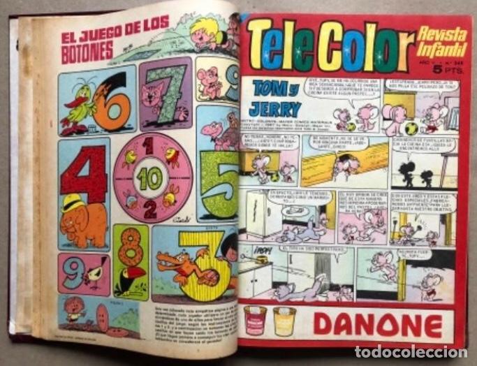 Tebeos: TOMO CON 11 TEBEOS DE LA EDITORIAL BRUGUERA (1967/68). 8 DE TELE COLOR Y 3 DE BRAVO ENCUADERNADOS. - Foto 5 - 210977815