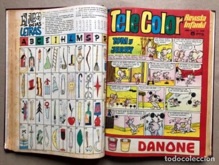 Tebeos: TOMO CON 11 TEBEOS DE LA EDITORIAL BRUGUERA (1967/68). 8 DE TELE COLOR Y 3 DE BRAVO ENCUADERNADOS. - Foto 6 - 210977815