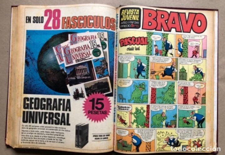 Tebeos: TOMO CON 11 TEBEOS DE LA EDITORIAL BRUGUERA (1967/68). 8 DE TELE COLOR Y 3 DE BRAVO ENCUADERNADOS. - Foto 12 - 210977815