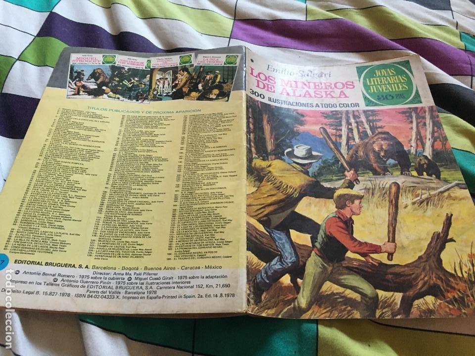 JOYAS LITERARIAS JUVENILES Nº 137 - LOS MINEROS DE ALASKA - 2ªEDICION 1978 EMILIO SALGARI - BRUGUERA (Tebeos y Comics - Bruguera - Joyas Literarias)