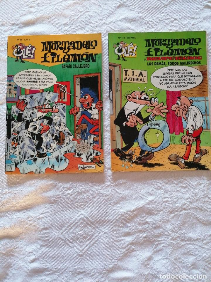 LOTE 2 COMICS MORTADELO Y FILEMÓN. OLÉ. N°98 Y 114 (Tebeos y Comics - Bruguera - Ole)
