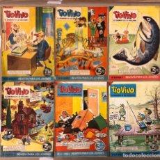 Tebeos: TIO VIVO (EDITORIAL BRUGUERA 1961-1964). LOTE DE 6 NÚMEROS 75, 80, 108, 111, 131, 167.. Lote 211513261