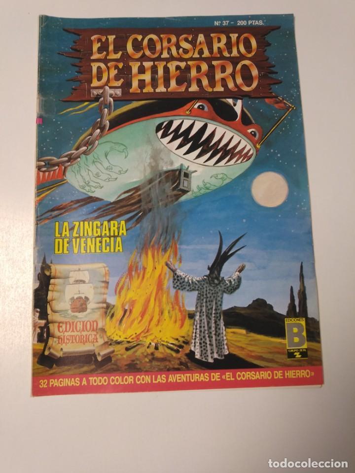 EL CORSARIO DE HIERRO NÚMERO 37 EDICIÓN HISTÓRICA 1989 EDICIONES B 987 EDICIONES B (Tebeos y Comics - Bruguera - Corsario de Hierro)