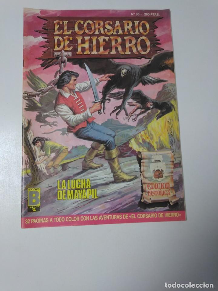 EL CORSARIO DE HIERRO NÚMERO 36 EDICIÓN HISTÓRICA 1989 EDICIONES B 987 EDICIONES B (Tebeos y Comics - Bruguera - Corsario de Hierro)
