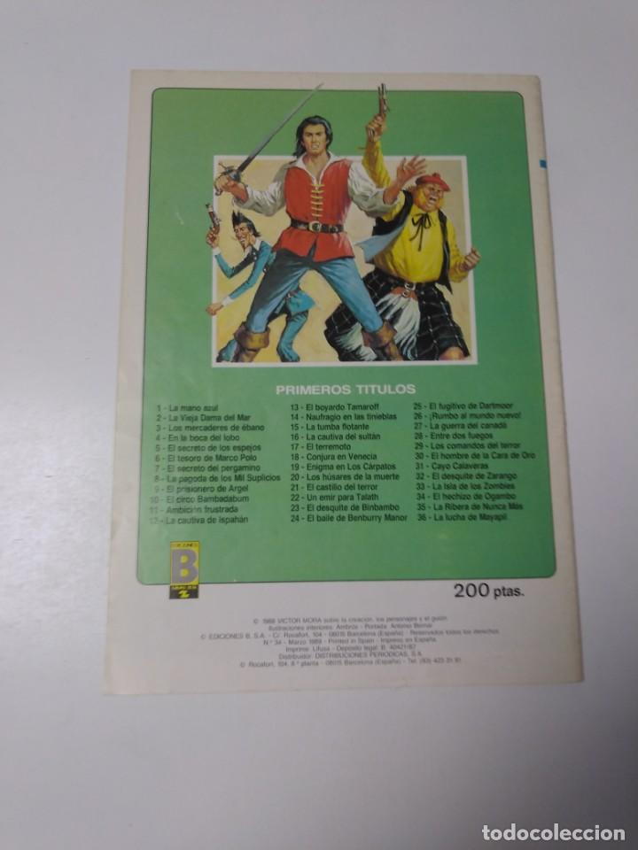 Tebeos: El Corsario de Hierro número 34 Edición Histórica 1989 Ediciones B 987 Ediciones B - Foto 2 - 211615897
