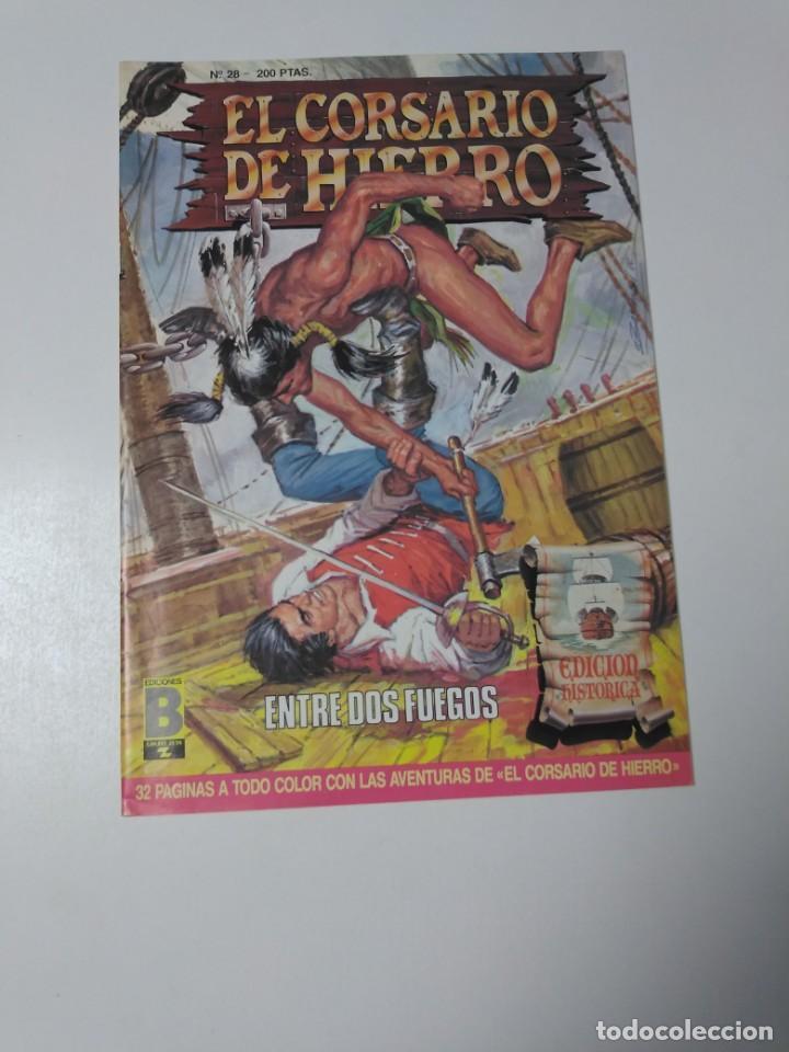 EL CORSARIO DE HIERRO NÚMERO 28 EDICIÓN HISTÓRICA 1988 EDICIONES B 1989 EDICIONES B 987 EDICIONES B (Tebeos y Comics - Bruguera - Corsario de Hierro)