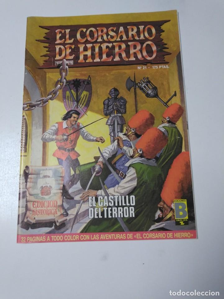 EL CORSARIO DE HIERRO NÚMERO 21 EDICIÓN HISTÓRICA 1988 EDICIONES B 1989 EDICIONES B 987 EDICIONES B (Tebeos y Comics - Bruguera - Corsario de Hierro)
