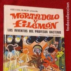 Tebeos: MORTADELO Y FILEMON - ASES DEL HUMOR 14 - LOS INVENTOS DEL PROFESOR BACTERIO - IBAÑEZ - CARTONE. Lote 211629502