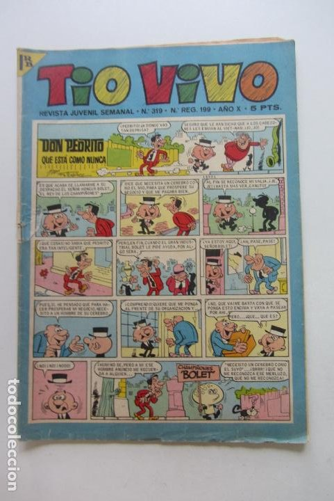 TIO VIVO - Nº 319 - EDITORIAL BRUGUERA . CX60 (Tebeos y Comics - Bruguera - Tio Vivo)