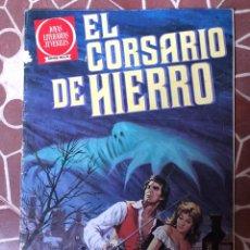 Tebeos: BRUGUERA EL CORSARIO DE HIERRO SERIE ROJA NRO 1 JOYAS LITERARIAS JUVENILES LA MANO AZUL. Lote 211701473