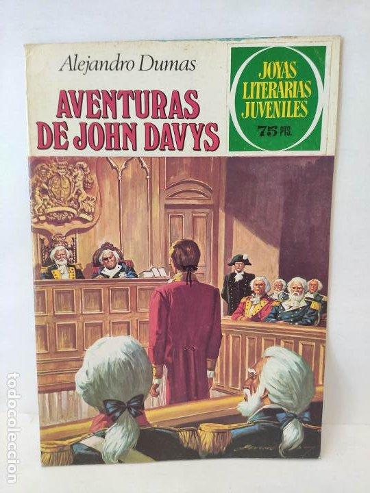 JOYAS LITERARIAS JUVENILES Nº 77: AVENTURAS DE JOHN DAVYS / BRUGUERA (Tebeos y Comics - Bruguera - Joyas Literarias)