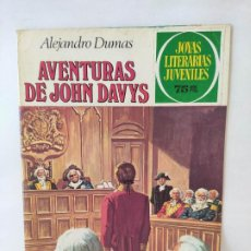 Tebeos: JOYAS LITERARIAS JUVENILES Nº 77: AVENTURAS DE JOHN DAVYS / BRUGUERA. Lote 211701813