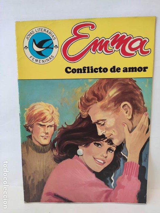 JOYAS LITERARIAS JUVENILES. SERIE AZUL. Nº 105. EMMA. CONFLICTO DE AMOR. BRUGUERA. (Tebeos y Comics - Bruguera - Joyas Literarias)