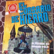 Tebeos: BRUGUERA EL CORSARIO DE HIERRO SERIE ROJA NRO 6 JOYAS LITERARIAS JUVENILES EL TESORO DE MARCO POLO. Lote 211702993