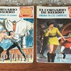 Tebeos: 2 TEBEOS DE GRANDES AVENTURAS JUVENILES, EL CORSARIO DE HIERRO, Nº 5 Y 69, 15-20 PESETAS, 1ª EDICIÓN. Lote 211759833