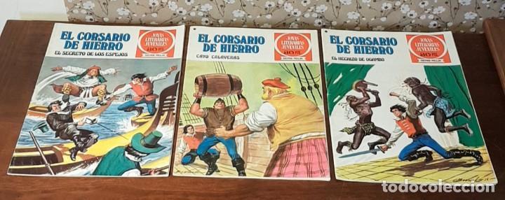 3 TEBEOS DE GRANDES AVENTURAS JUVENILES, SERIE ROJA, 30 PTS. EL CORSARIO DE HIERRO, Nº 5, 33 Y 36. (Tebeos y Comics - Bruguera - Corsario de Hierro)
