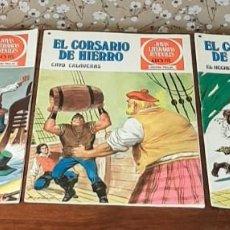 Tebeos: 3 TEBEOS DE GRANDES AVENTURAS JUVENILES, SERIE ROJA, 30 PTS. EL CORSARIO DE HIERRO, Nº 5, 33 Y 36.. Lote 211761140