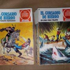 Tebeos: LOTE 45 NÚMEROS (FALTAN 13) EL CORSARIO DE HIERRO JOYAS LITERARIAS JUVENILES. Lote 211833146