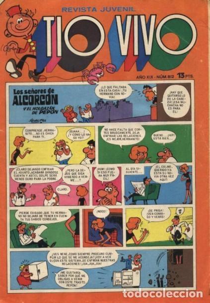 TÍO VIVO -REVISTA JUVENIL- Nº 812 -COLOMER-RAF-MÁSCARA GRIS-MUY RARO-1976- BUENO- ESCASO- LEAN-3863 (Tebeos y Comics - Bruguera - Tio Vivo)