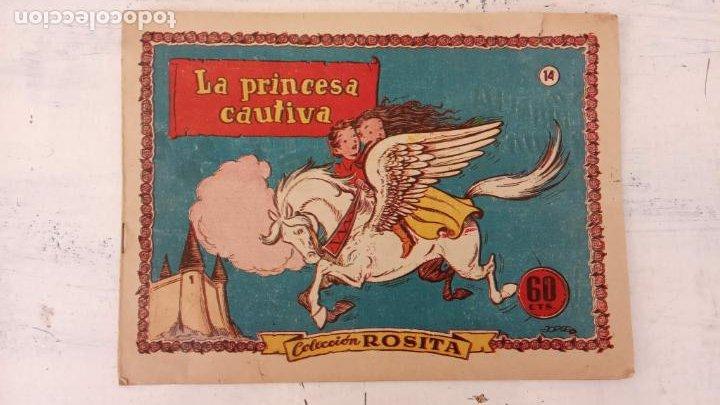 COLECCIÓN ROSITA Nº 14 EDI. BRUGUERA 1951 - POR JORGE - LA PRINCESA CAUTIVA - MUY BUEN ESTADO (Tebeos y Comics - Bruguera - Otros)