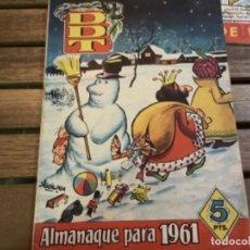 Tebeos: 4 REVISTAS DDT ALMANAQUE 1961 EXTRA DE VERANO EXTRA ESOS HINCHAS Y EXTRA VERANO. Lote 212228246