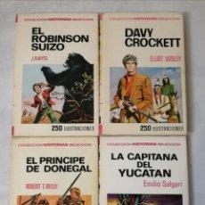 Tebeos: COLECCIÓN HISTORIAS SELECCIÓN.4 NÚMEROS. EDITORIAL BRUGUERA.. Lote 212244713