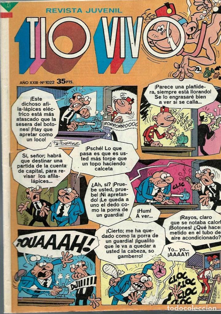 TIO VIVO EPOCA 2ª Nº 1022 - BRUGUERA 1980 - ULTIMOS NUMEROS (Tebeos y Comics - Bruguera - Tio Vivo)