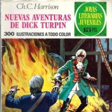 Tebeos: JOYAS LITERARIAS JUVENILES Nº 92 - NUEVAS AVENTURAS DE CIK TURPIN - BRUGUERA 1973 1ª EDICION. Lote 212497958