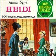 Tebeos: JOYAS LITERARIAS JUVENILES Nº 103 - HEIDI - BRUGUERA 1974 1ª EDICION. Lote 222487192