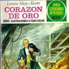 Tebeos: JOYAS LITERARIAS JUVENILES Nº 112 - CORAZON DE ORO - BRUGUERA 1974 1ª EDICION. Lote 212499726