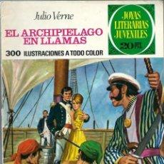 Tebeos: JOYAS LITERARIAS JUVENILES Nº 135 - EL ARCHIPIELAGO EN LLAMAS - BRUGUERA 1975 1ª EDICION. Lote 212501111