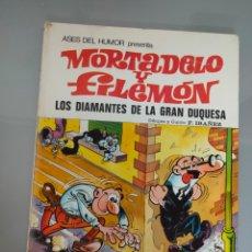 Tebeos: ASES DEL HUMOR 20 1973 MORTADELO Y FILEMÓN LOS DIAMANTES DE LA GRAN DUQUESA BRUGUERA 1° EDICIÓN. Lote 212842433