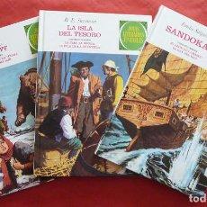 Tebeos: JOYAS LITERARIAS JUVENILES Nº 1, 2 Y 3 (JULIO VERNE, R.L. STEVENSON Y EMILIO SALGARI) – AÑO 2009. Lote 213601955