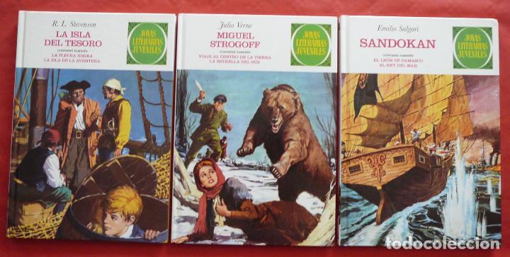 Tebeos: JOYAS LITERARIAS JUVENILES Nº 1, 2 Y 3 (Julio Verne, R.L. Stevenson y Emilio Salgari) – Año 2009 - Foto 2 - 213601955