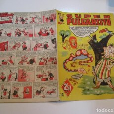 Tebeos: SUPER PULGARCITO NUMERO 14 AÑO 1950 MUY BUEN ESTADO DIFICIL. Lote 244624485