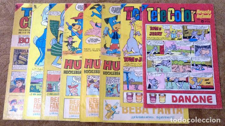 TELE COLOR Nº 115, 129, 134, 141, 149, 175, 239 Y 251 (BRUGUERA 1.965/67) 8 TEBEOS. (Tebeos y Comics - Bruguera - Tele Color)
