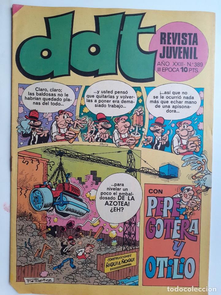 DDT-III ÉPOCA- Nº 389 -LUCKY LUKE-RIC HOCHET-ASTÉRIX-TRAVER-1974-DIFÍCIL-BUENO-LEAN-3430 (Tebeos y Comics - Bruguera - DDT)