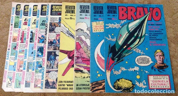 BRAVO Nº 6, 9, 17, 27, 29, 35, 37, 38 Y 41 (BRUGUERA 1968) 9 TEBEOS. (Tebeos y Comics - Bruguera - Bravo)