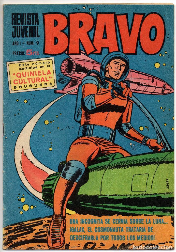 Tebeos: BRAVO nº 6, 9, 17, 27, 29, 35, 37, 38 y 41 (Bruguera 1968) 9 tebeos. - Foto 4 - 198366058