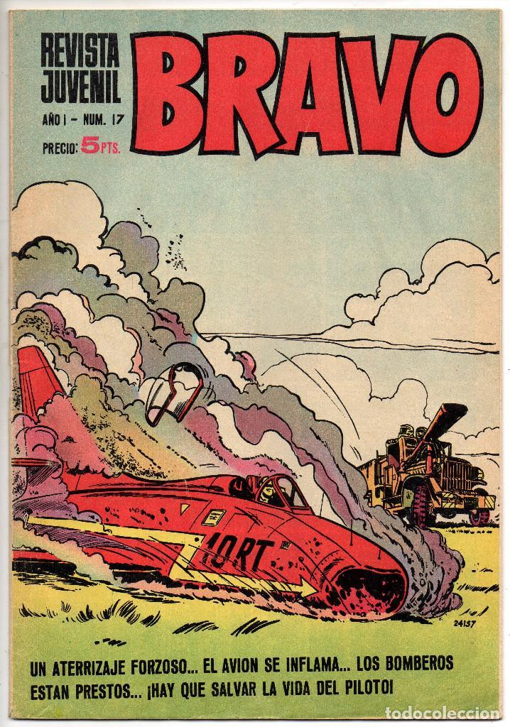 Tebeos: BRAVO nº 6, 9, 17, 27, 29, 35, 37, 38 y 41 (Bruguera 1968) 9 tebeos. - Foto 6 - 198366058