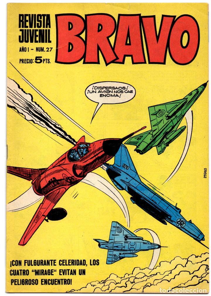Tebeos: BRAVO nº 6, 9, 17, 27, 29, 35, 37, 38 y 41 (Bruguera 1968) 9 tebeos. - Foto 8 - 198366058