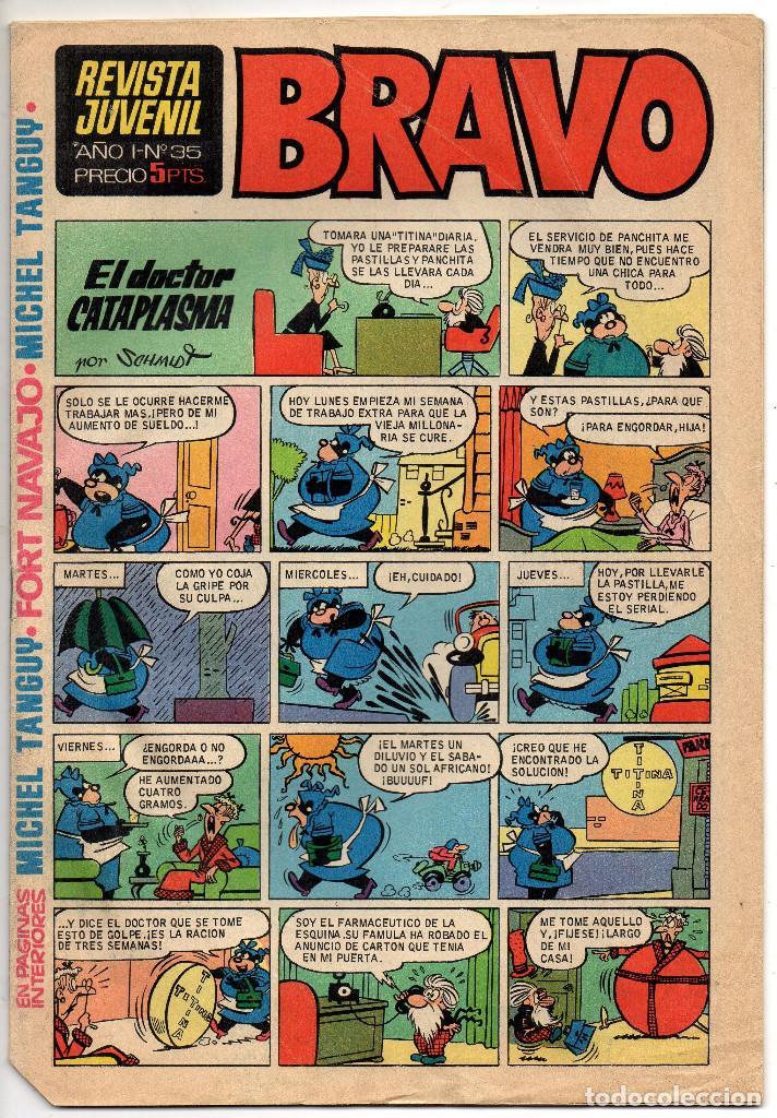 Tebeos: BRAVO nº 6, 9, 17, 27, 29, 35, 37, 38 y 41 (Bruguera 1968) 9 tebeos. - Foto 12 - 198366058