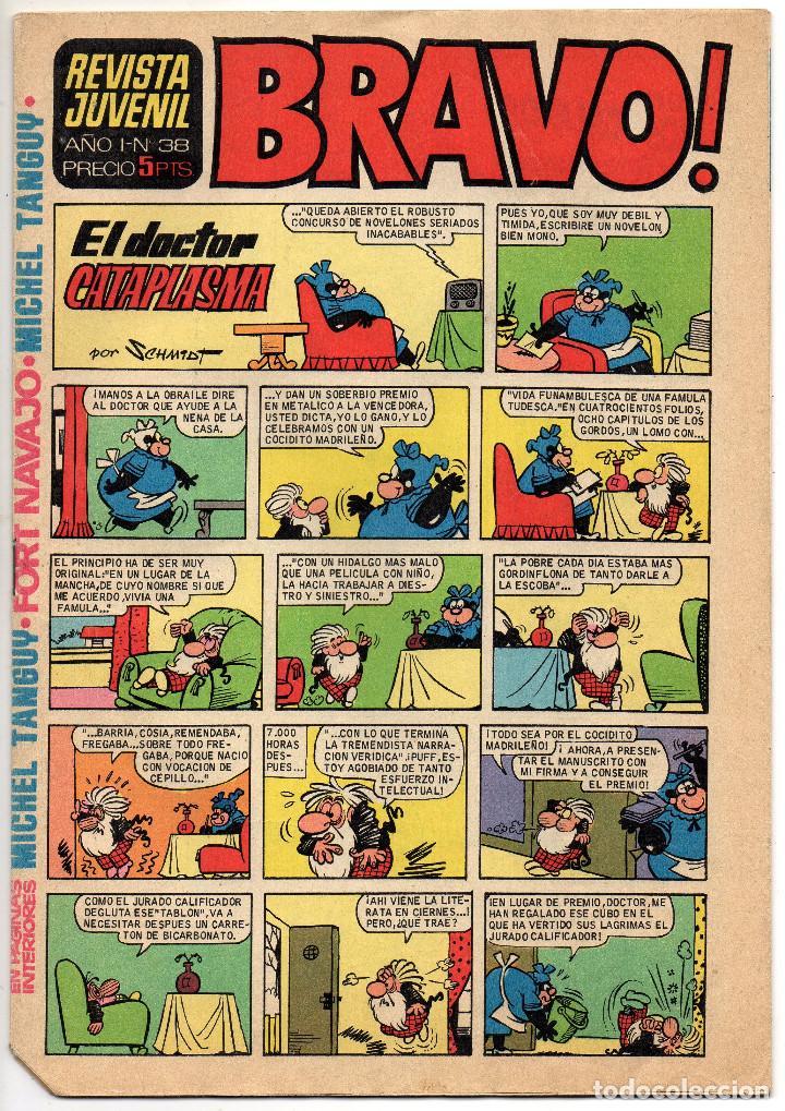 Tebeos: BRAVO nº 6, 9, 17, 27, 29, 35, 37, 38 y 41 (Bruguera 1968) 9 tebeos. - Foto 16 - 198366058
