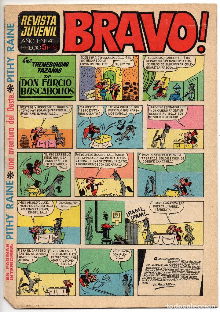 Tebeos: BRAVO nº 6, 9, 17, 27, 29, 35, 37, 38 y 41 (Bruguera 1968) 9 tebeos. - Foto 18 - 198366058
