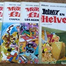 Tebeos: ASES DEL HUMOR 6, 7, 16 (BRUGUERA 1ª EDICION 1971/72) Y ASTERIX EN HELVECIA (BRUGUERA 1971) PILOTE.. Lote 212927062